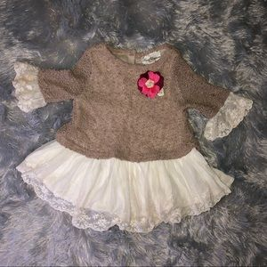 Rare Editions Lacy Dress Size 4T